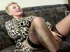 Old slut kisses stripper's ass!