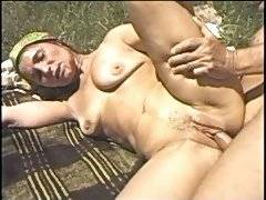Banging granny out in the woods
