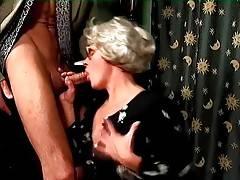 Slutty Granny Mrs Jones Slurps Young Hard Dick 2