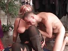Aged Blonde Sucks Dick And Gets Fucked 1