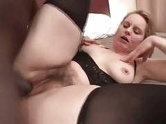 Muscled Black Stud Bangs Older White Chick 2