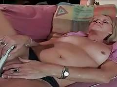 Slutty Aged Blonde Pleasures Horny Dude 1