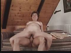 Horny Dude Deeply Drills Slutty Granny 1